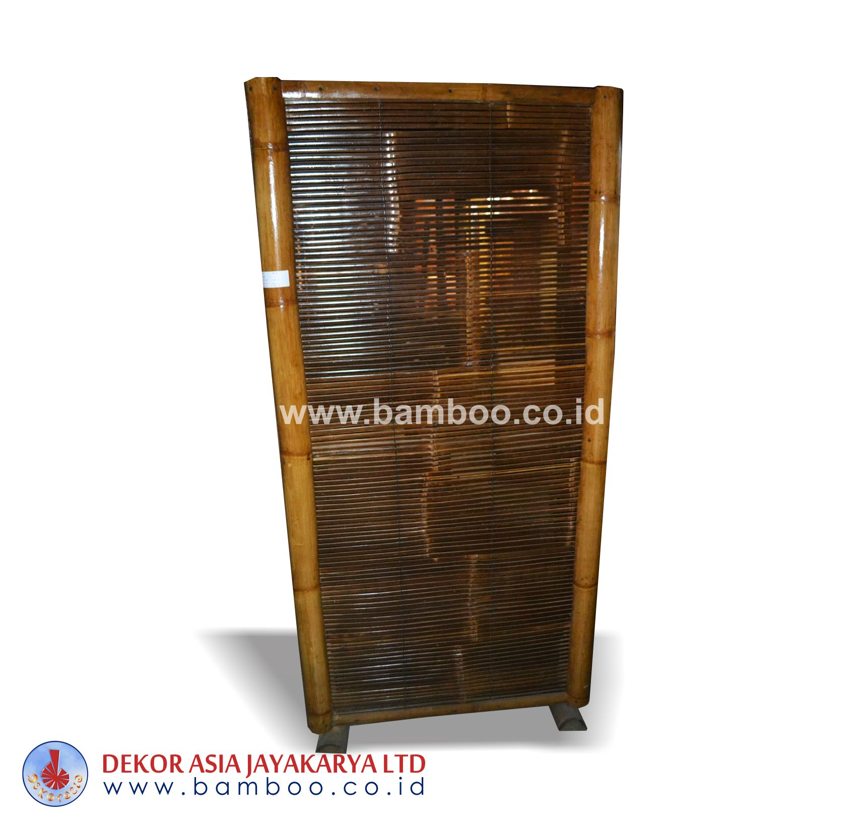 Black Bamboo Frame With Bamboo Vertically